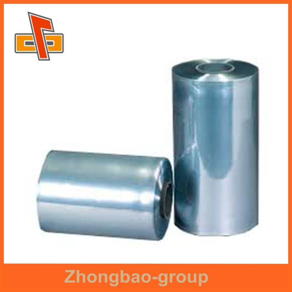 PVC heat shrink tube clear film blue package film for cosmetics cream box