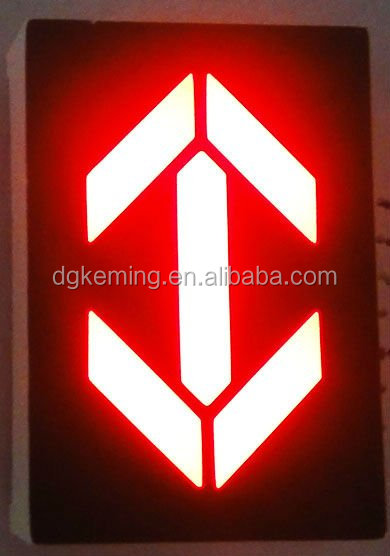 "high quality 1 inch 7 segment led and 1"" red arrow led display"