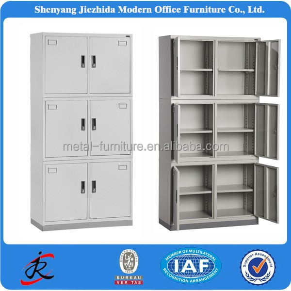 high quality modern colorful 6 door office file steel sheet metal cabinet design
