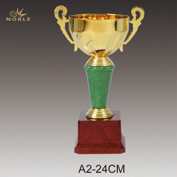 Gold Trophy Cup Metal Sports Award with Base
