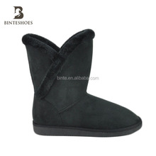 Nice winter cheap snow boots Fur insole soft Hailf boots warm casual boots for women and girls