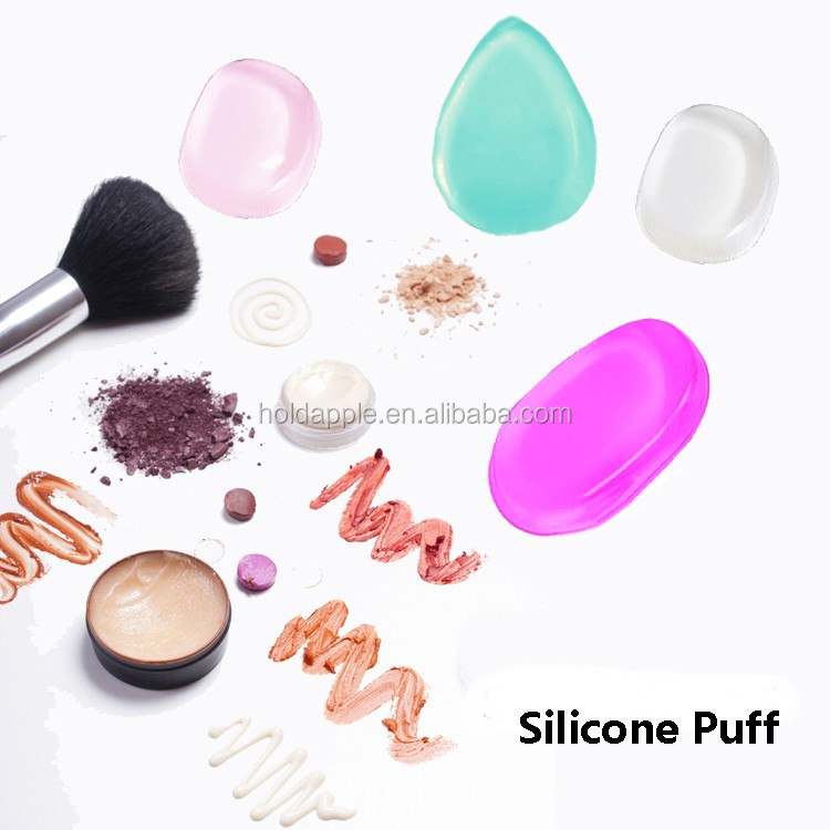Silicone Makeup Sponge Foundation Blender Clear Cosmetic Beauty Puff Applicator HA01801