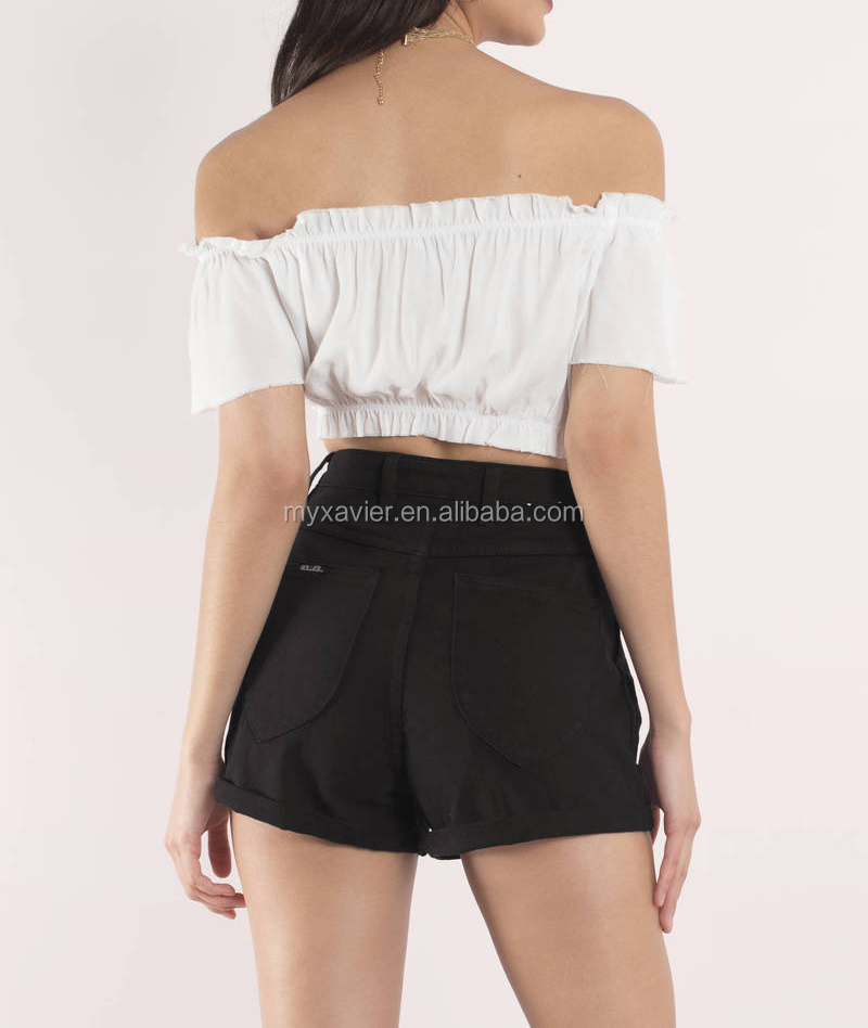 Latest sexy summer sexy black shorts designs for women clothing 2017