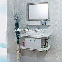 Slim Glass Sink Hotel Bathroom Vanity