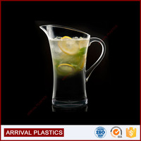 BPA free polycarbonate Clear Champagne drinkware juice plastic water pitcher with handle