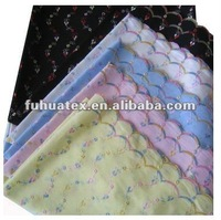 100% polyester rainbow organza fabric/ New-Style colourful Embroidery Fabric