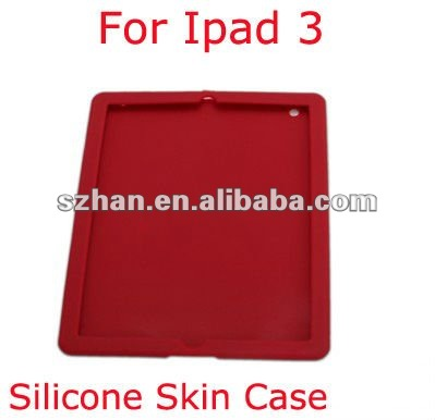 Silicone Skin Case Cover Sleeve for iPad 3
