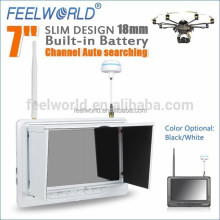 "DJI Phantom 7"" fpv monitor with 5.8ghz wireless receiver Channel Auto searching ,selection via button"