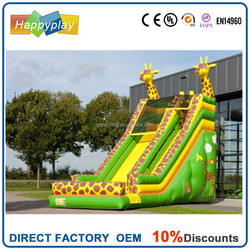 Lily toys inflatables commercial inflatable giraffe slide