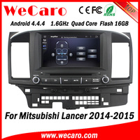 "Wecaro 8"" Android 4.4.4 car navigation system quad core car audio for mitsubishi lancer ex car dvd gps tv tuner 2014 2015"
