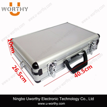 Aluminum Frame Tool Box Easy Carry Travel Metal Tool Case