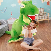 custom giant plush dinosaur green stuffed wholesale dinosaur toys