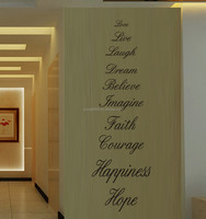 Wall Quote Art Decals Vinyl Stickers Removable Home Decor Graphic Words