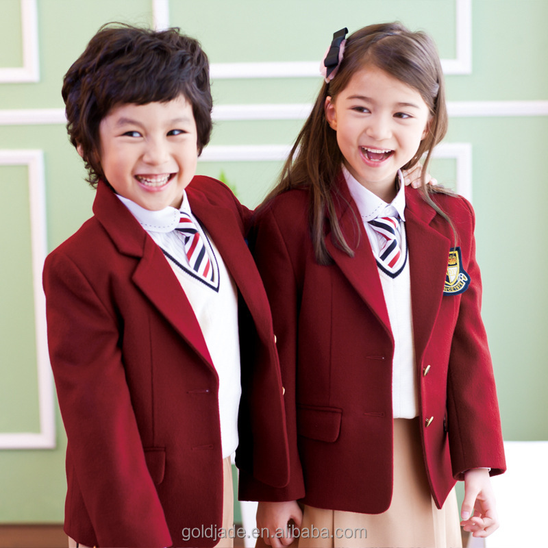 kindergarten uniform primaly school bulk school suits for chirdren School Uniform Blazer
