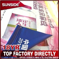 outdoor double sides banner printing hanging double sided fabric banner for advertising