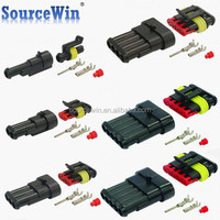 282079-1 Electric Waterproof Automotive AMP 1 pin Male Female Car Connectors