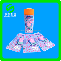 pvc shrink film pet Shrink film label sticker