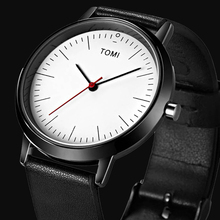 New Top Brand TOMI Men's Watches Sports Quartz Leather strap Casual Watch Women Wristwatch Ultra Thin Dial Luxury Watches Men