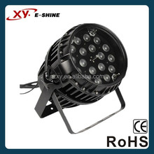 pro excellent decoration waterproof 18*10w RGBW powered outdoor zoom led par light 200w