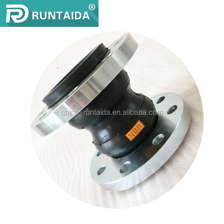 ss304 epdm double bellow flexible rubber expansion joint with flange