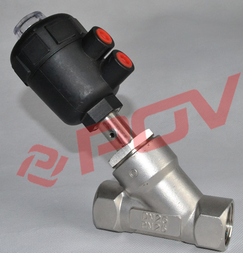 steam pneumatic Thread Angle Seat Valve With SS Head solenoid valve