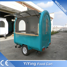 FR220B Yiying factory made brand new mobile adult pedal motorcycle scooter food cart commercial hot dog cart
