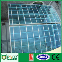 PNOC fancy wood grain Aluminum single Carport with Polycarbonate Roof Sheet with African standard