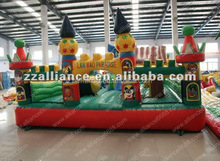 Cheap price commercial quallity indoor and outdoor inflatable bouncy castle with slide