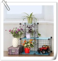 portable living room diy metal pp flower shelf