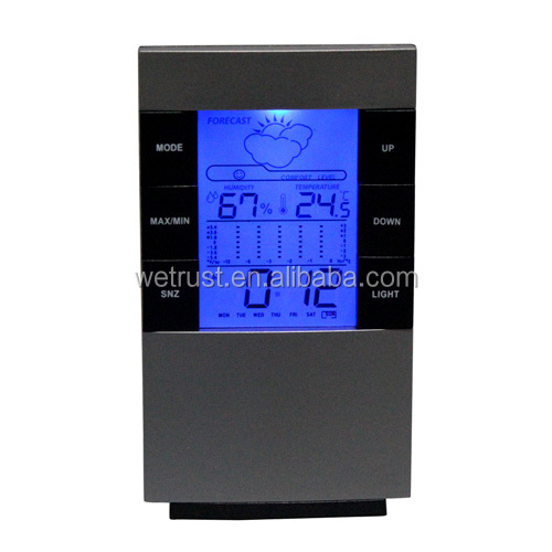 Wholesale Weather Forecast Clock Multifunction Calender LCD Clock Desktop Temperature Table Alarm Clock