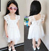 new model Korean version of the original single girls dress quality ladies lace suspenders princess dress children clothing fact
