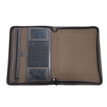 New Arrival Fashion Zipper Leather Portfolios