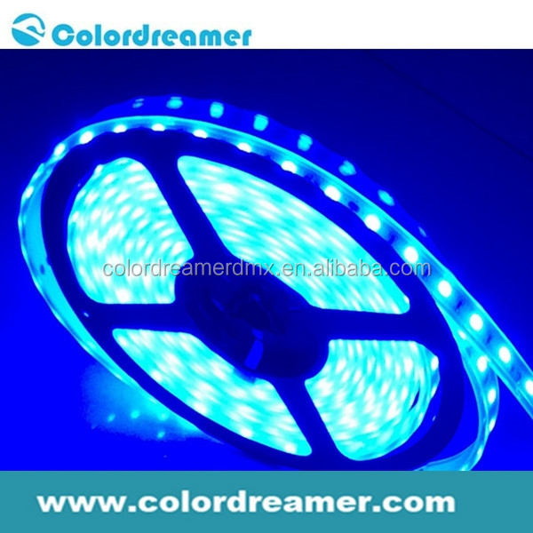 Colordreamer flexible digital programmable dmx rgb led rope lighting/dmx rgb strip lighting