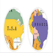 Hot New Products package size 61*6.6cm detailed world map with scratch off stickers large and tube packaging