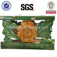 keralal glass clay flower roof ridge tile best selling in europe
