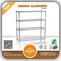 4 Tier Chrome Coated Wire Shelving