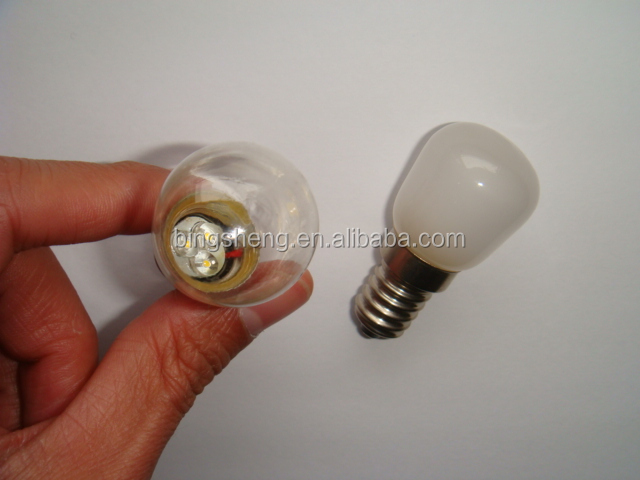LED ST25 DIP 3pcs led 0.5w with E14 clear/frosted indicator LED