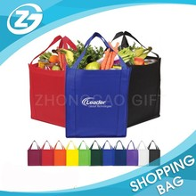 Promotional Portable Reusable Nonwoven Bags Promotional Shopping Bags with 1 Color Customized Logo Printing