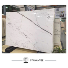 Statuario Venato Wall Hanging 3 Thick 24x24 Inch White Marble Slab