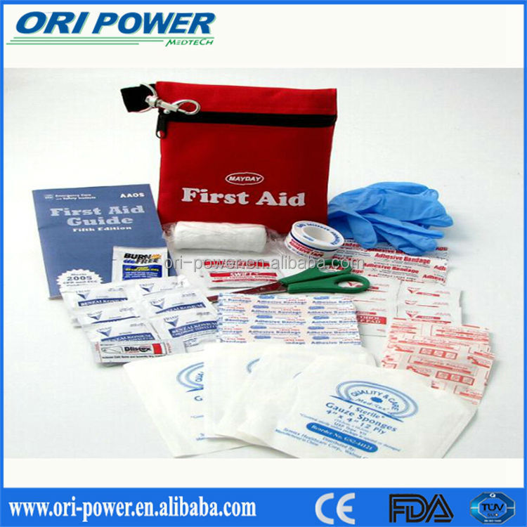 CE FDA ISO approved OP wholesale manufacture roadside emergency bicycle first aid kit