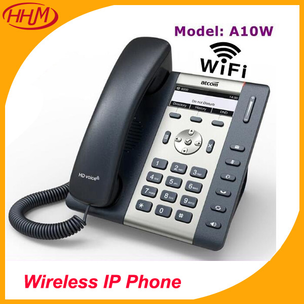 A10W 1 SIP WIFI Phone Entry-Level Business Wireless IP Phone , HD Voice