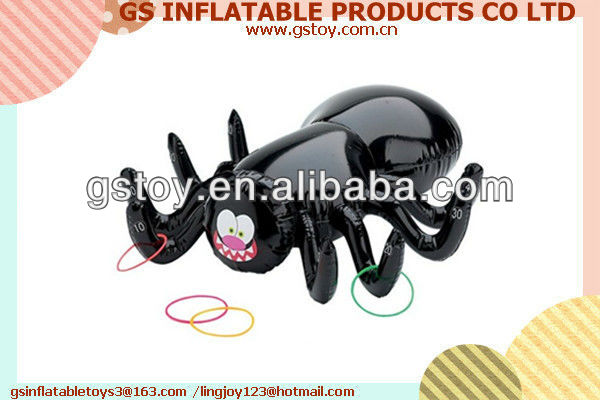 PVC happy spider style per inflatable waterfall ring toss EN71 approved