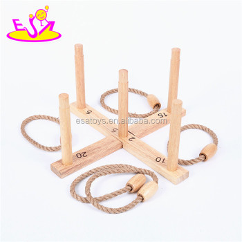 2016 Outdoor garden cross wooden ring toss game toy W01A182