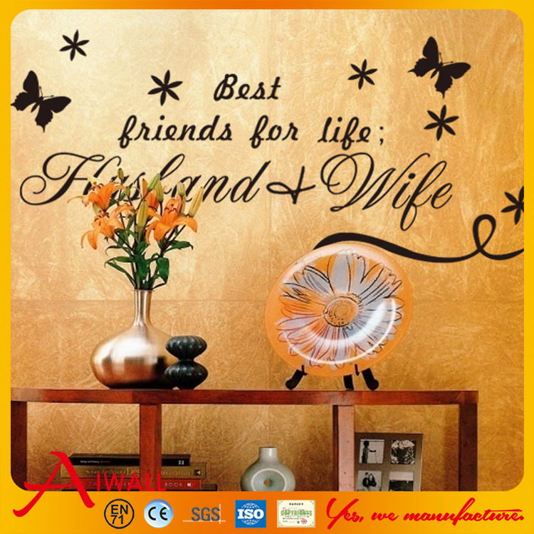 8154 Art Characters Wall Stickers Best husband and wife For Kids Room DIY Home Decorations Wall Decals Living Room