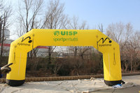 advertising inflatable arch event arch yellow color arch