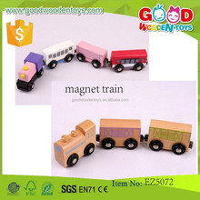 Wooden Play Magnetic Construction Toy Kids Cars Train Wooden Magnet Train Sets