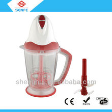 Good sell two speed food chopper / mini food mixer with CE & ROHS with unique double stainless steel blades system