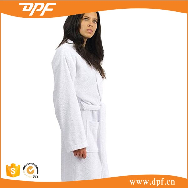 Bathrobe Cotton Solid Dressing Gown Spa Robe Terry Towelling Bathrobe/Bath Robe