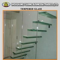 12mm building use safety thick toughened glass in china