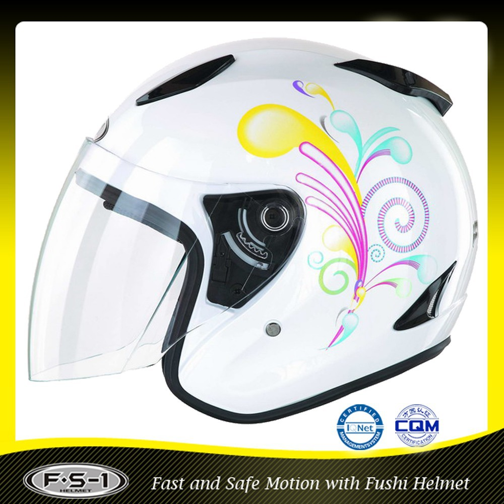 DOT custom double visor open face motorcycle helmet design motorbike helmet ECE approved
